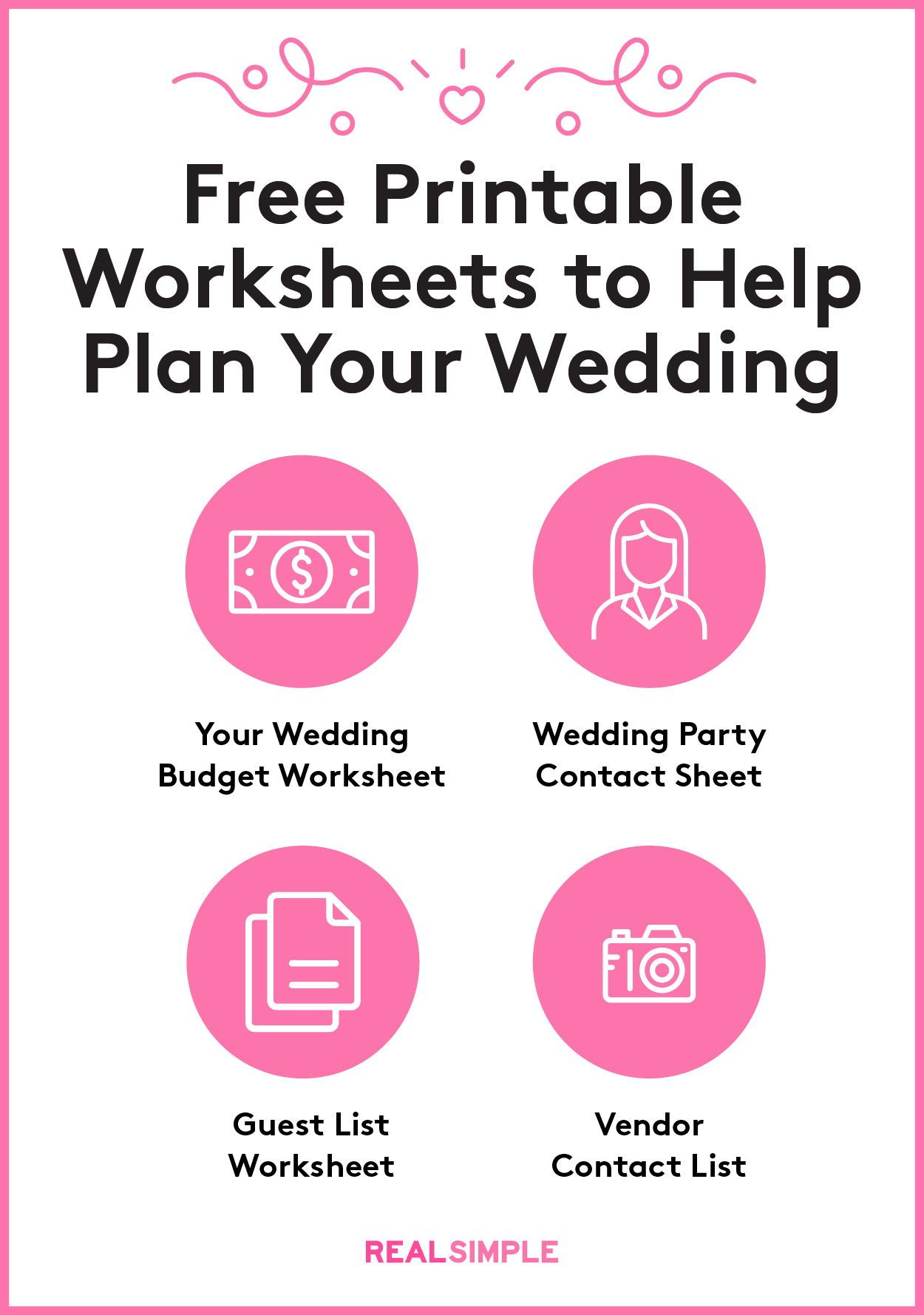 Wedding Planning Printable Checklists In
