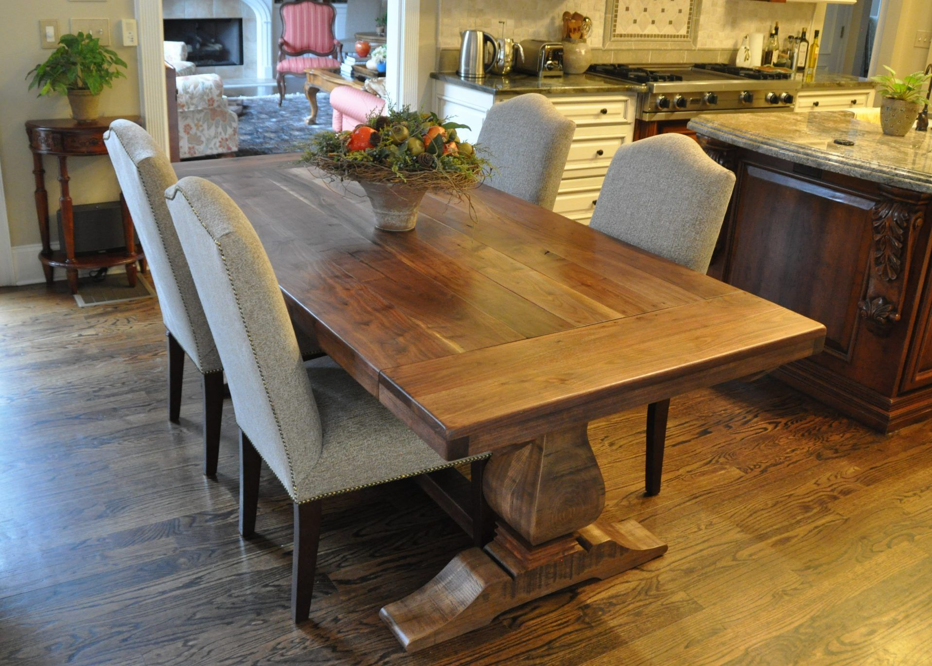 Rustic Weston Trestle Farmhouse Table | Atlanta GA Denver CO | Rustic  Trades Furniture