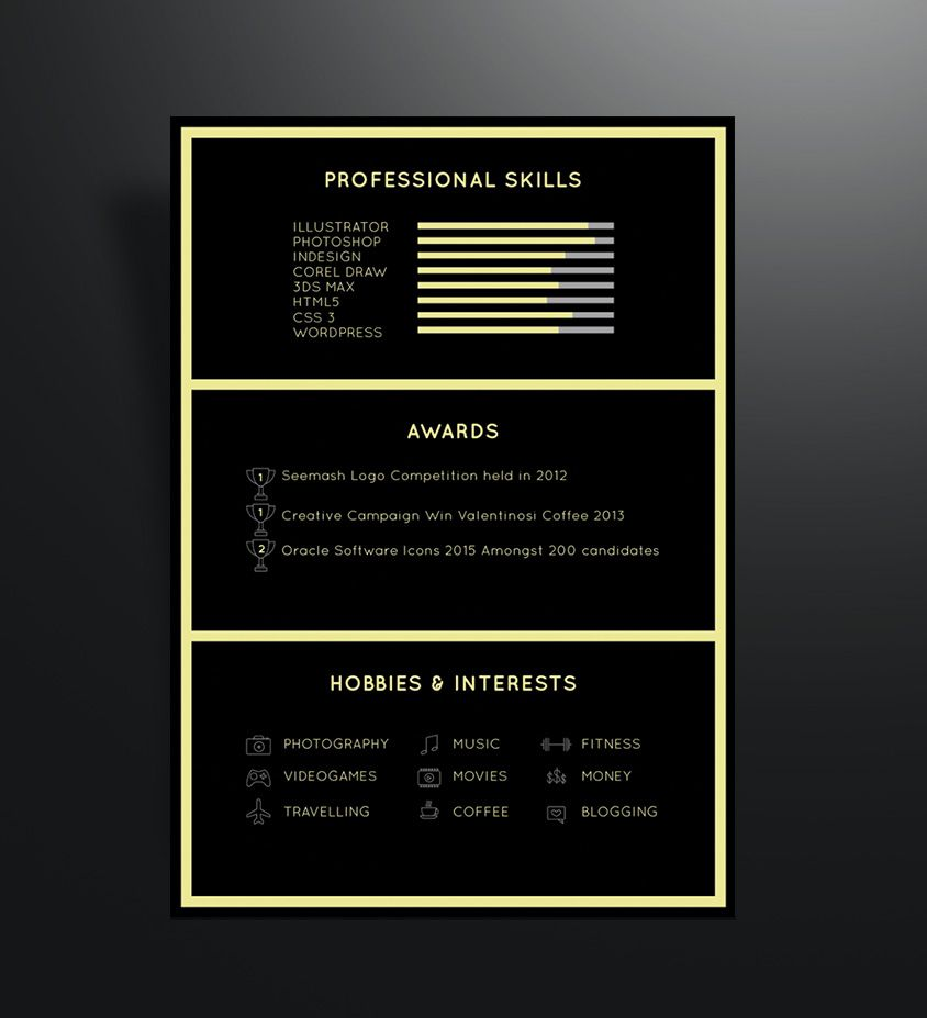 free-black-professional-resume-template-2 Resume Ai Pinterest - sample photographer resume template