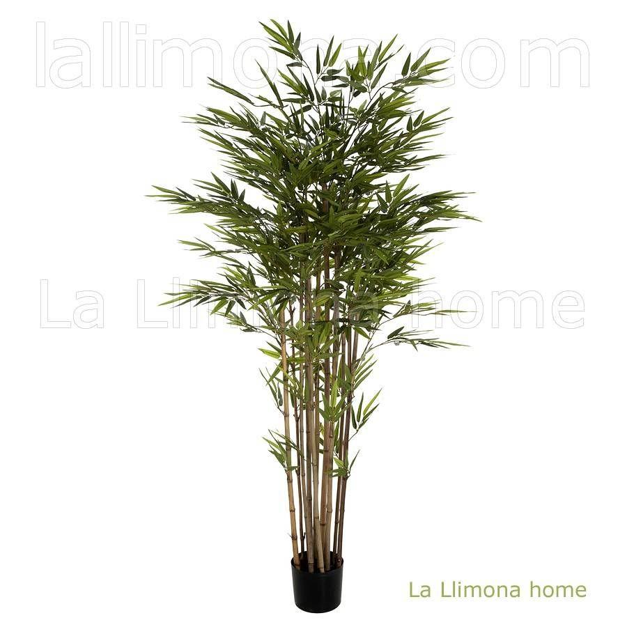 Plantas Artificiales Planta Bamb Artificial Maceta 180 Plantas  ~ Cañas De Bambu Verdes Para Decorar