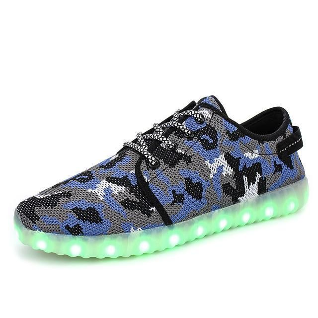 Shoes Men's Shoes The New Coconut Light Shoes Children Breathable Weaving Board Shoes Led Light Shoes Wholesal