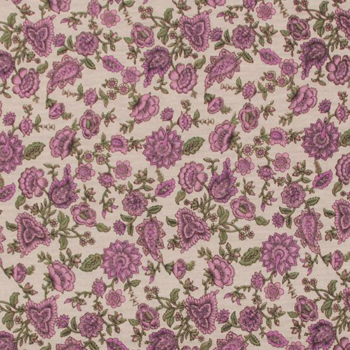 A Muted Vintage Style Botanica Pink Floral On A Light Beige Background Cotton Jersey Knit Fabric Has A Small Stretch Light Jersey Knit Fabric Fabric Knitting
