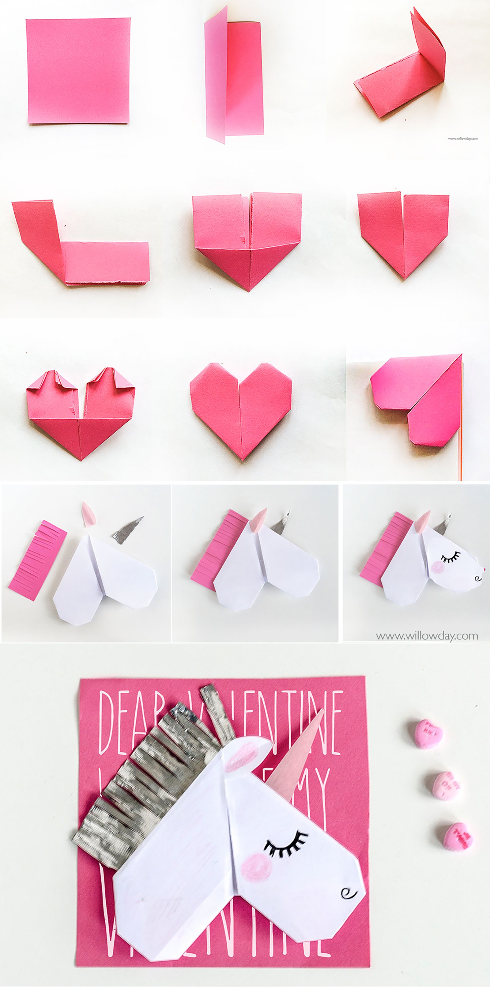 How to make an origami unicorn | unicorn bookmark |[ willowday ...