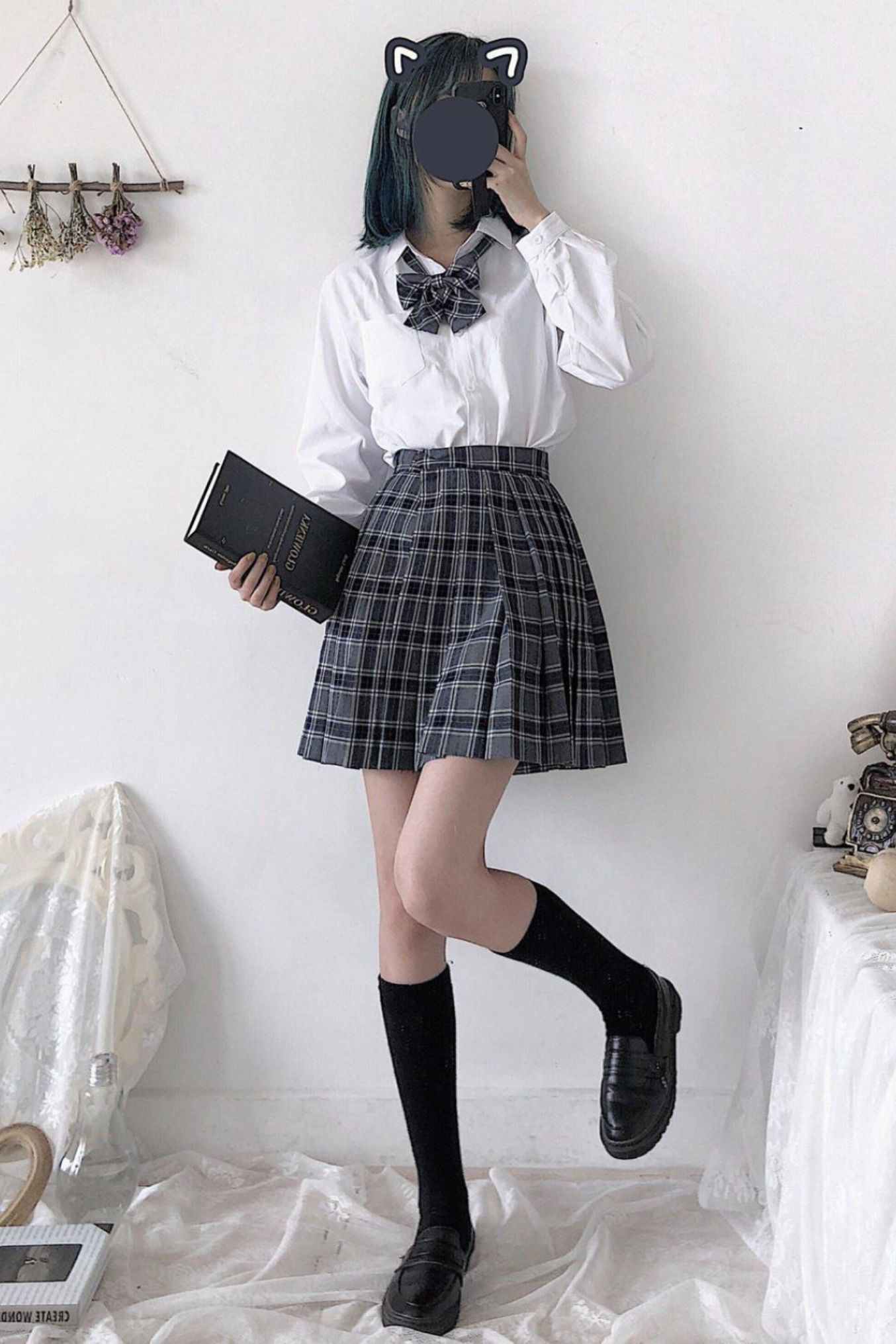 Japanese Preppy Style School Mini Skirt In 2020 Bad Girl Outfits Preppy Style Aesthetic Clothing Stores