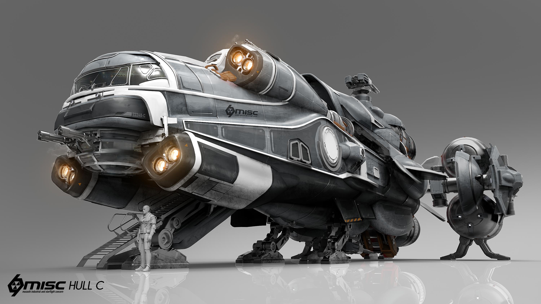 Hull C Final Png 3000 1687 Star Citizen Spaceship Art Sci Fi Ships