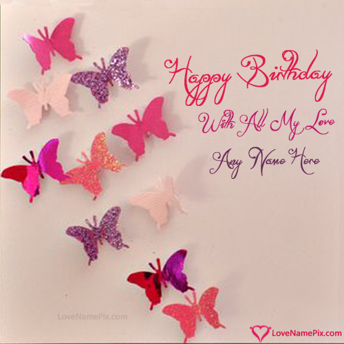 Handmade Happy Birthday Cards With Name Photo Happy Birthday