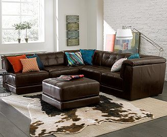 Stacey Leather Modular Living Room Furniture Collection