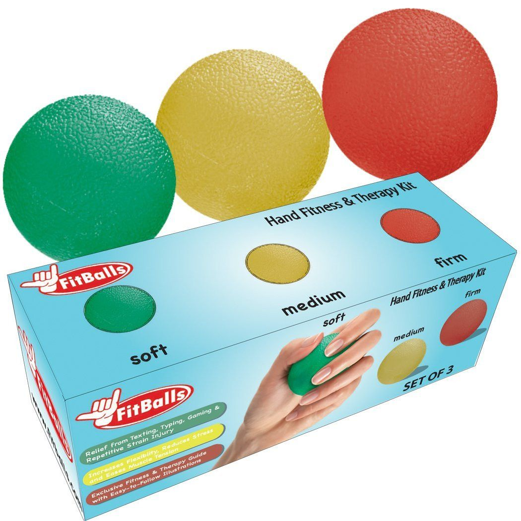 Fitballs hand strengthener repetitive strain prevention