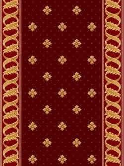 Red Carpet With Patterns And Borders