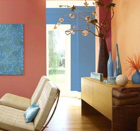 5 Idées déco pour marier plusieurs couleurs de peinture dans la même pièce   Décoration salon ...