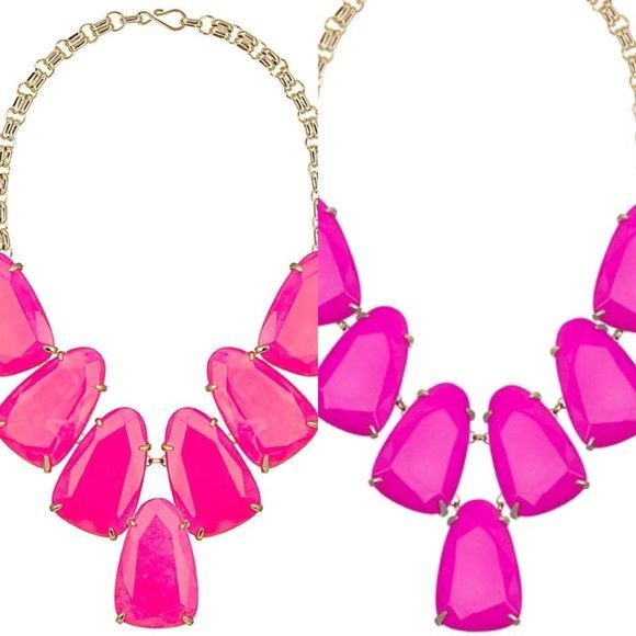 ISO Magenta or neon pink Harlow ISO neon pink or magenta Harlow! Let me know what you have for sale or trade! Kendra Scott Jewelry Necklaces