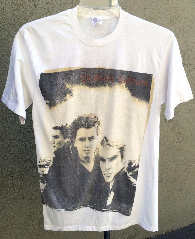 85e449572c1 Vintage 1987 DURAN DURAN Strange Behavior Concert Tour T-Shirt Large (One  Size)