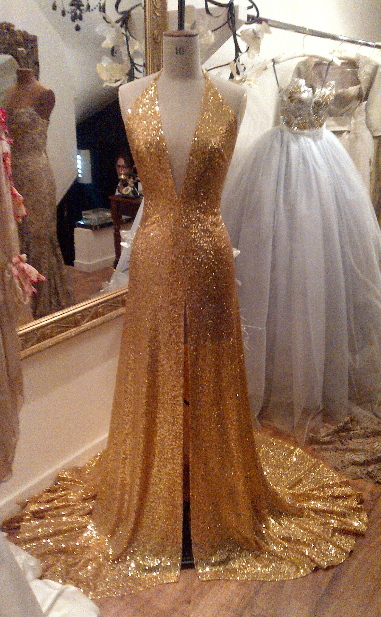 Gold blue wedding dress gown lauren b couturewedding gowns