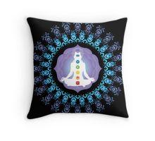 Young woman practicing meditation 10 Throw Pillow