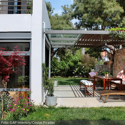 IDEENSAMMLUNGHAUSBAU Pergolas, Gardens and Verandas - holz pergola garten moderne beispiele