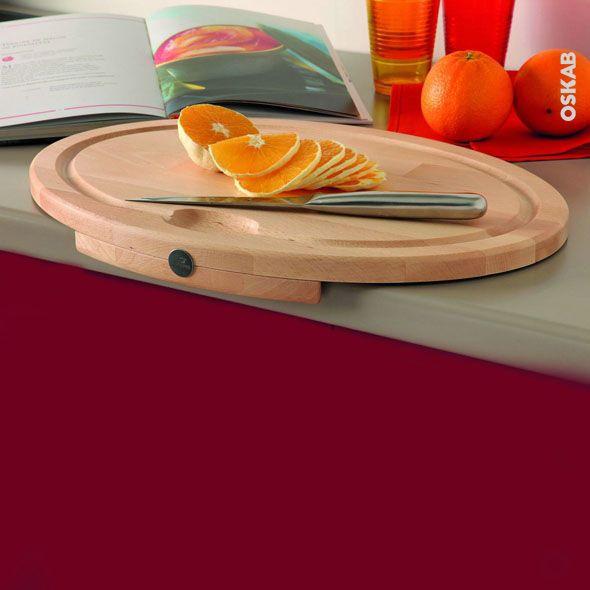 Planche à découper ovale en hêtre naturel, accessoire plan de