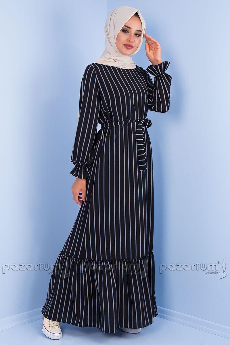Cizgili Elbise Modelleri Tesettur Ile Ilgili Gorsel Sonucu Cizgili Elbise Elbise Modelleri Elbise