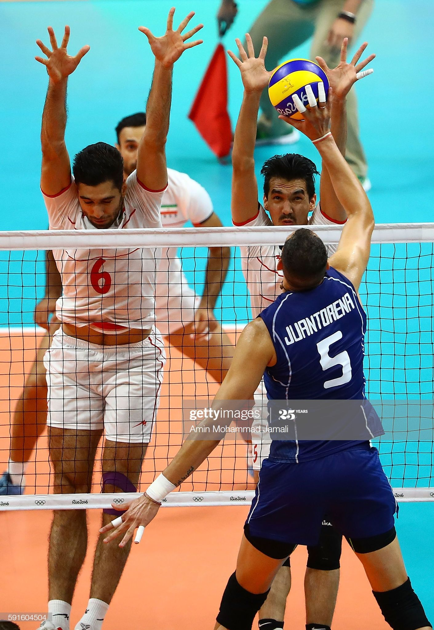 Farhad Ghaemi And Seyed Mohammad Mousavi Eraghi Of Iran Defend In 2020 Olympic Games Olympics 2016 Rio Olympics 2016