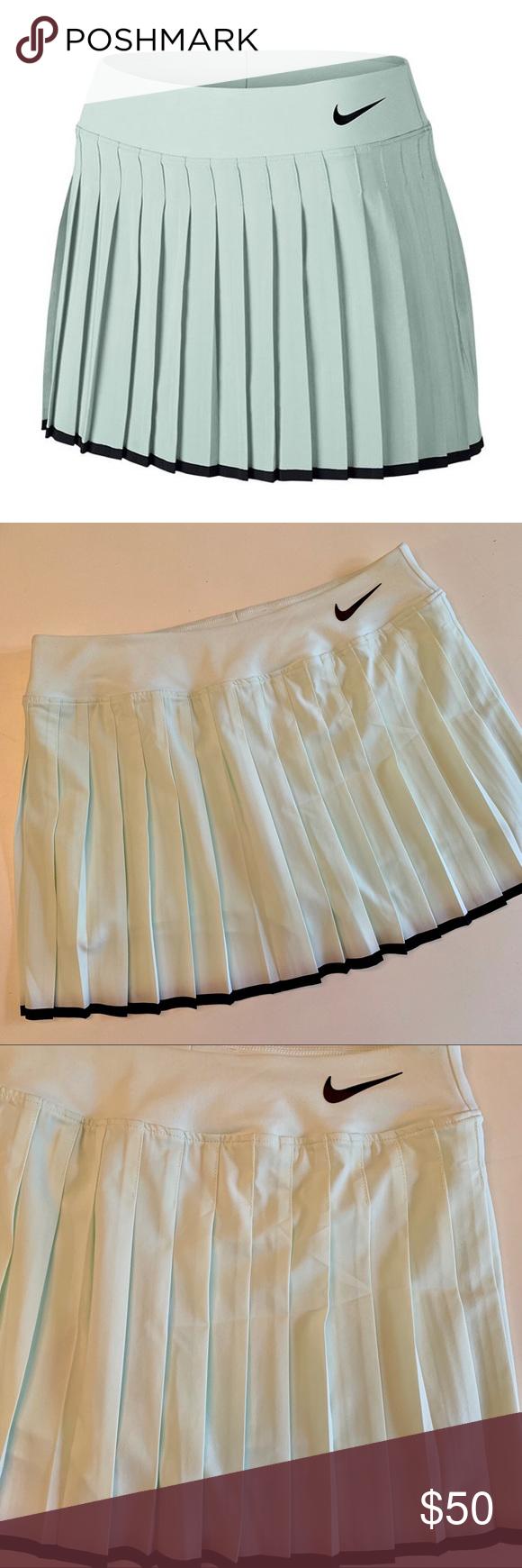Nwt Nike Mint Gray Victory Tennis Skirt Tennis Skirt Skirts Feminine Style