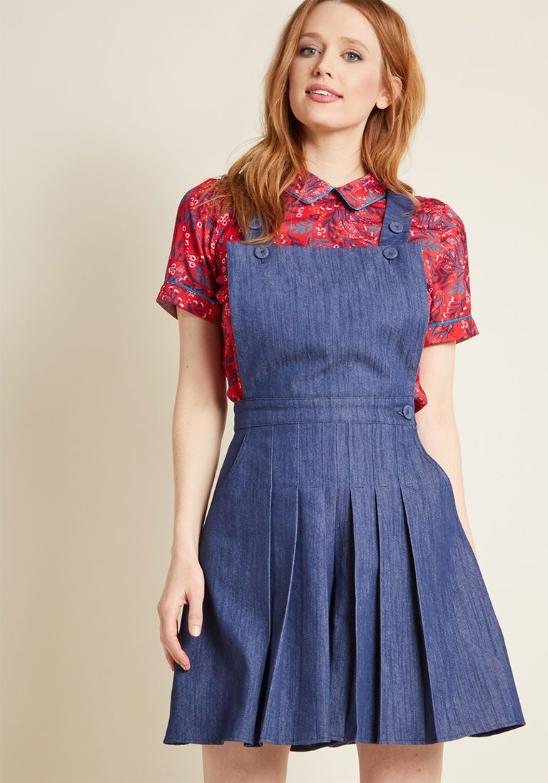 3284ca9356 Miss Candyfloss Lively Arrival Denim Romper in 4X by Miss Candyfloss from  ModCloth