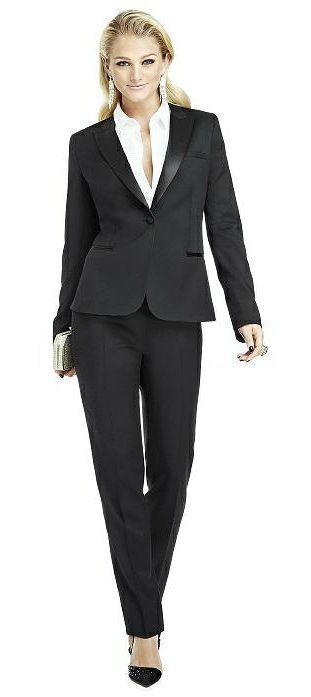feeb30a5de5 Marlowe Women's Tuxedo Jacket - Peak Collar | Feminine Suits and ...