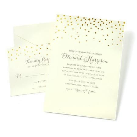 Gartner Studios Dot Invitations 50 Piece Walmart Com Create Wedding Invitations Wedding Invitation Kits Make Your Own Wedding Invitations
