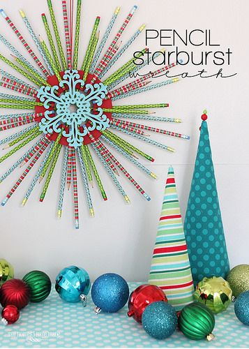 Pencil Starburst Wreath-001 | TheHomesIHaveMade | Flickr