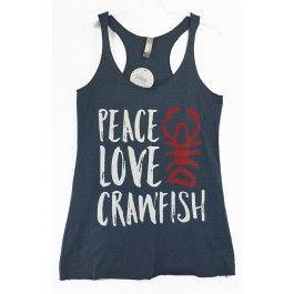 Download Peace Love Crawfish Tank #littlebitboho   Vinyl shirts ...