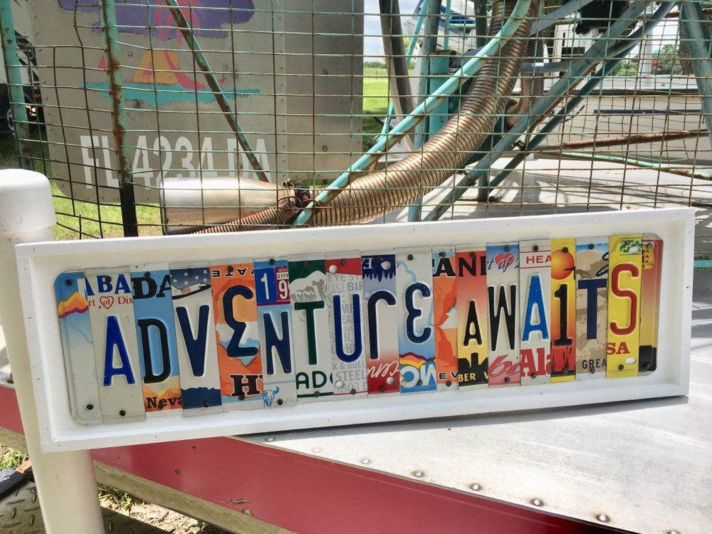 Photo of Adventure Awaits sign license plate sign travel decor – Adventure