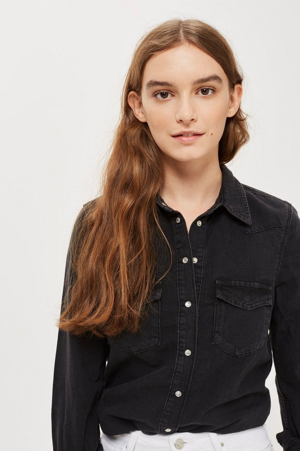 b9738ccbed8 Fitted Denim Western Shirt - Clothing in 2018