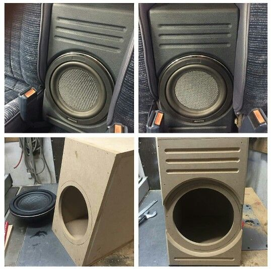 Subwoofer Box Between The Seats In A Pickup Truck Subwoofer Box Subwoofer Box Design Stereo Idea