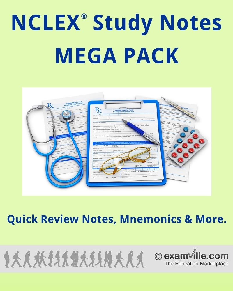 NCLEX Quick Review Study Notes Mega Pack (Created By Successful Test ...