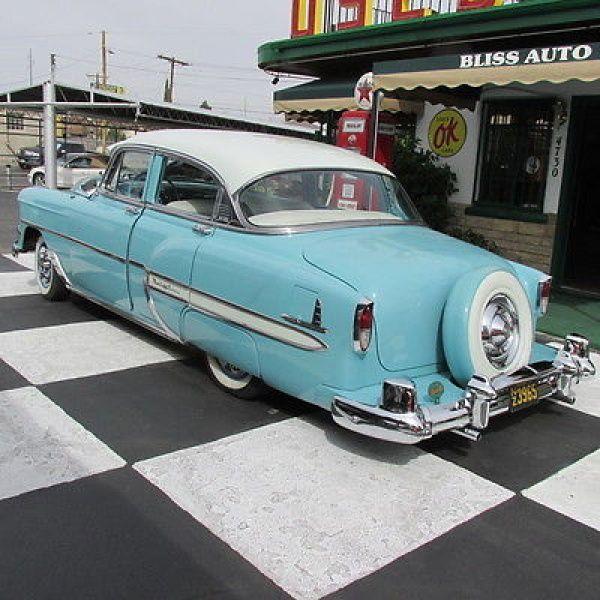 1954 Chevrolet Bel Air 4 Door Sedan With Continental Kit Chevrolet Bel Air Dream Cars New Cars