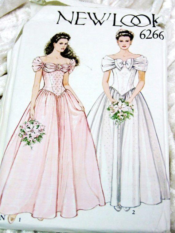 Vintage 1980 Formal/Wedding Dresses - love those sleeves on the pink ...
