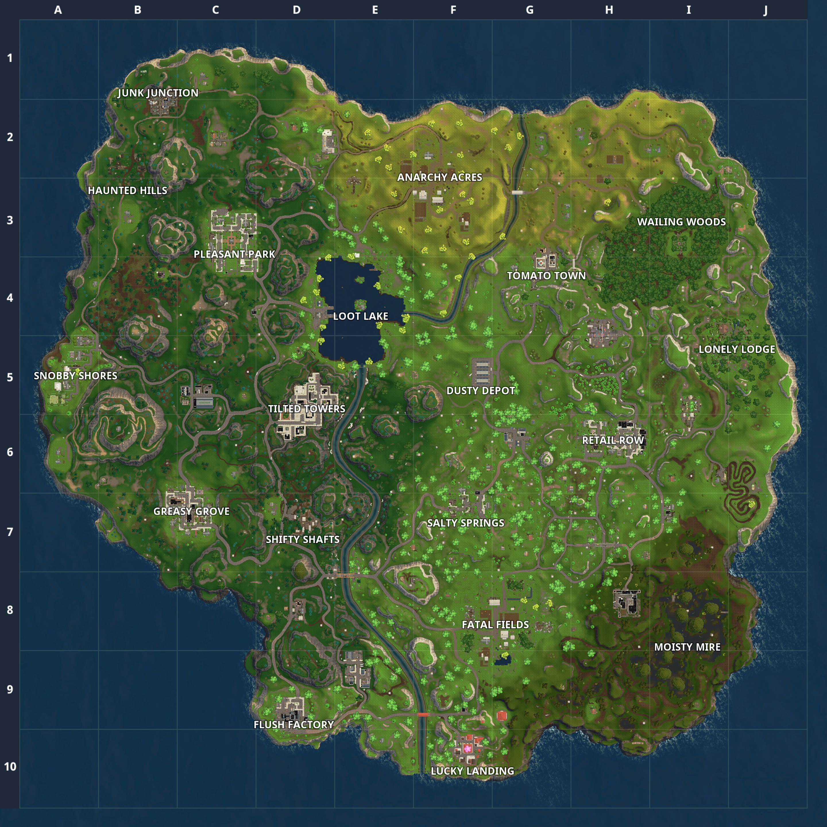 Fortnite Battle Royale Map: Chest Spawn Locations | Birthday ... on map desk, map calf, map brain, map furniture, map roman britain, map table, map cabinet, map face, map of pinconning michigan, map clothing, map heart, map hands, map of cheat lake wv, map tongue, map drawers, map of lakes in france, map of alton illinois area, map compass north, map box,