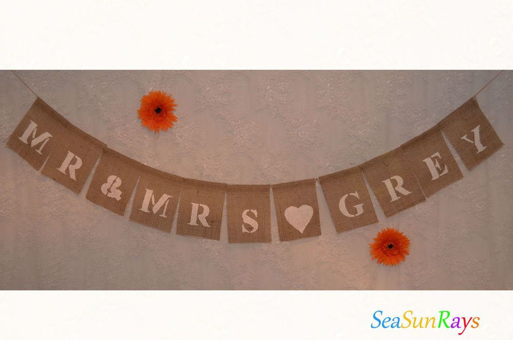 PERSONALISED MRS TO BE  Hen Banner Burlap Bunting Hessian Flag Garland Bride