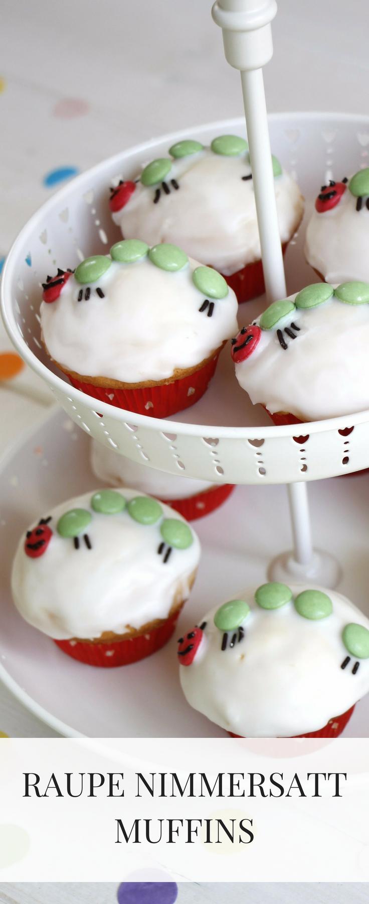 Ein Kindgeburtstag Kuchen muss her: Wie wäre es mit Kleine Raupe Nimmersatt Cupcakes? Die Kleine Raupe Nimmersatt Muffins passen perfekt zu einer Kleinen Raupe Nimmersatt Themenparty und das Muffin Rezept ist wirklich schnell und einfach gemacht.