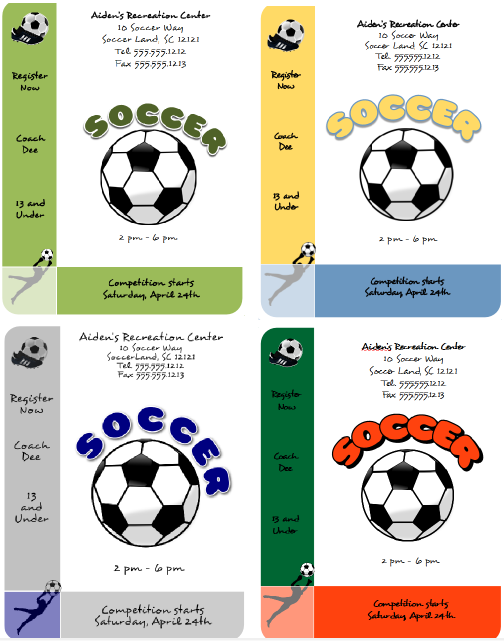 Download Templates For A Soccer Flyer  FlyertutorCom HttpWww