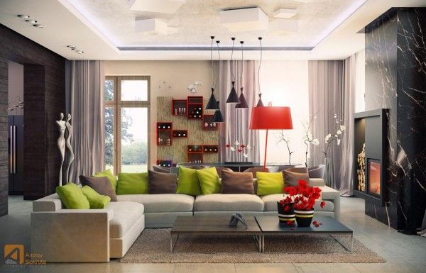 Colorful fresh modern designs for living room in new house living room colors 2013