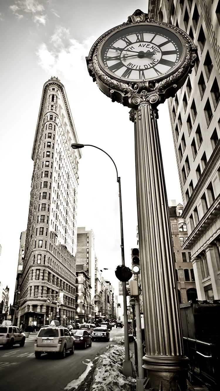 Flatiron Building New York Black And White Wallpaper For