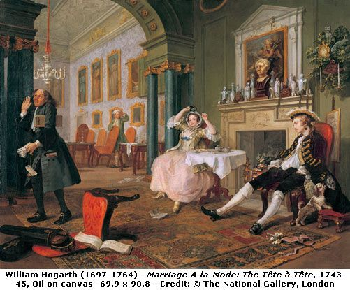 William Hogarth Marriage A La Mode Although The Style Is Rococo