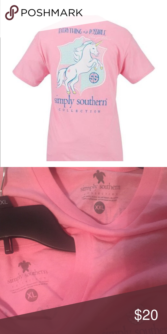 14001f7a3 Simply Southern Women's Unicorn T-shirt 🆕 Women's Unicorn Short Sleeve T- shirt NWOT Simply Southern Tops Tees - Short Sleeve