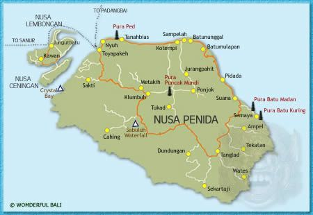 Nusa Penida Map