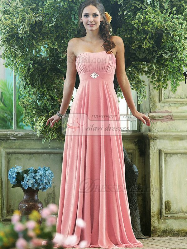 light pink bridesmaid dresses strapless