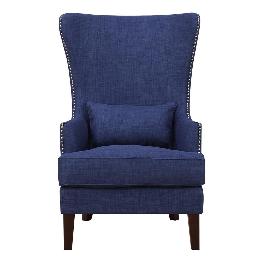Element International Kegan Blue Accent Chair Blue Accent Chairs