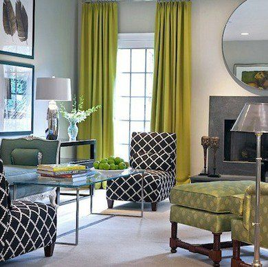 What S The Best Color For Living Rooms The Experts Weigh In Living Room Green Chartreuse Living Room Modern Classic Living Room