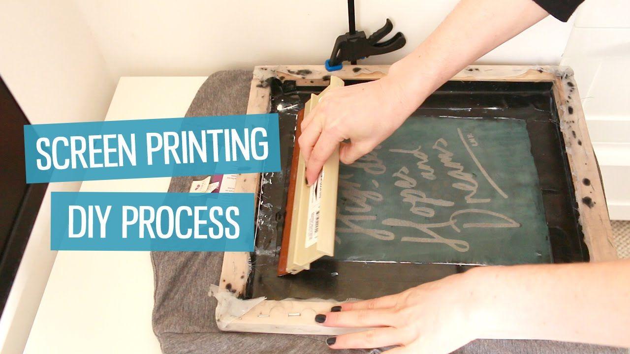 How To Screen Print T Shirts At Home Diy Method Charlimarietv Diy Prints Diy Screen Printing Screen Printing