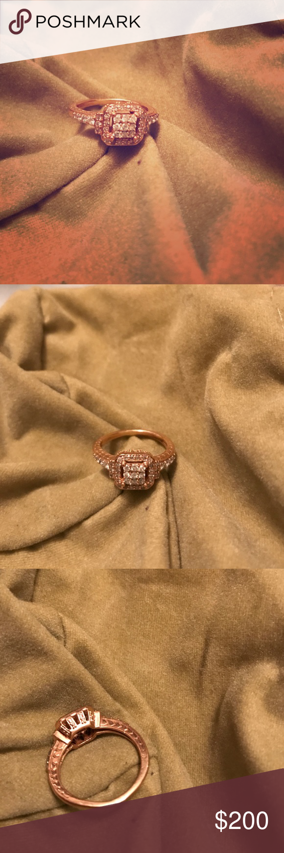 Rose gold diamond ring This rose gold and diamond ring is from Kay jewelers and is a size seven. Worn once. Perfect condition Kay Jewelers Jewelry Rings