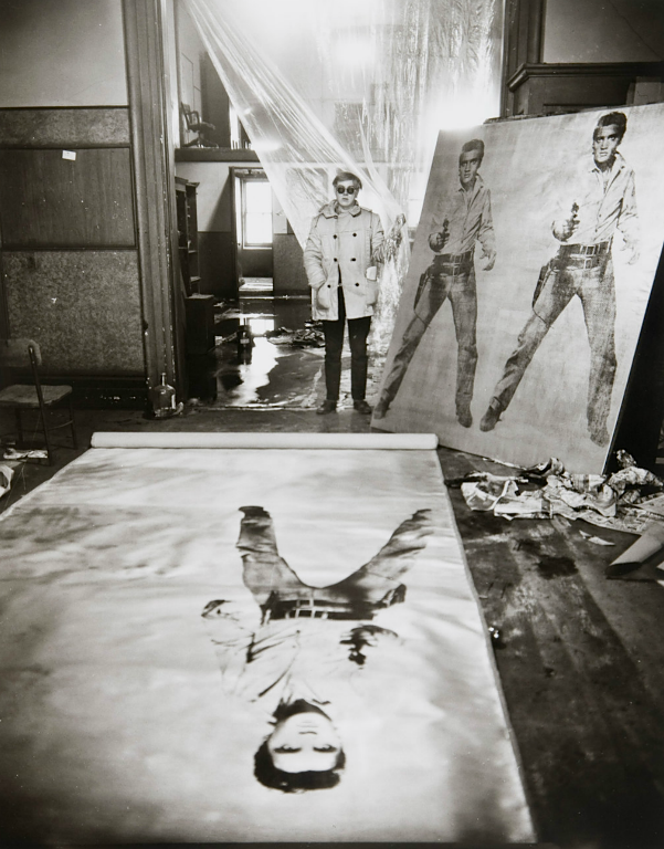 ed723fcd38 Warhol in his studio