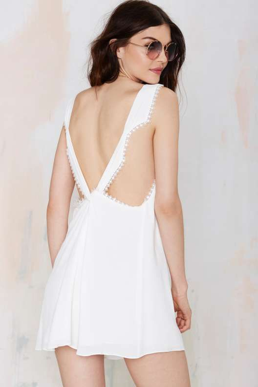 White Out Plunging Dress - What's New